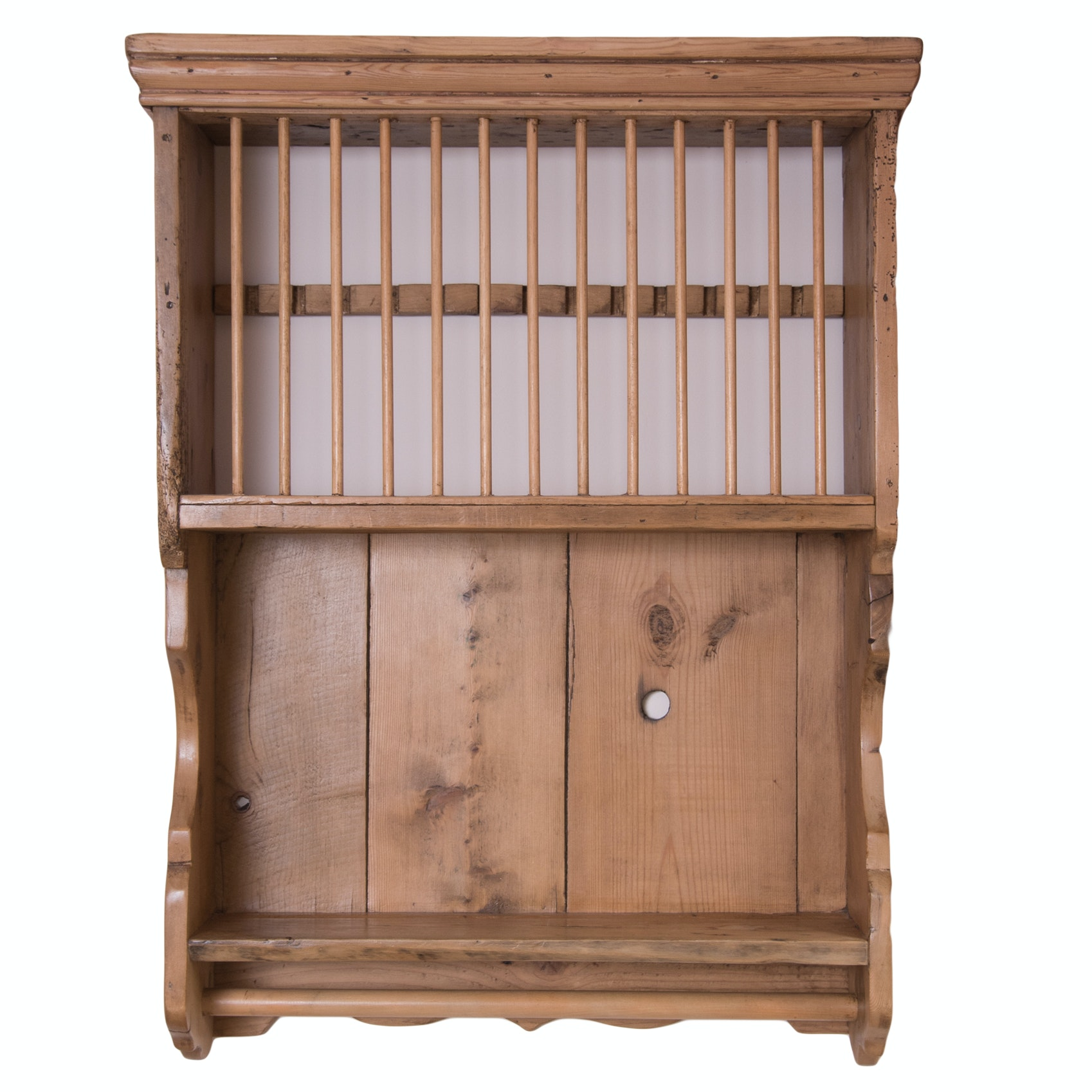 Antique Scrubbed Pine Plate Rack ...  sc 1 st  EBTH.com & Antique Scrubbed Pine Plate Rack : EBTH