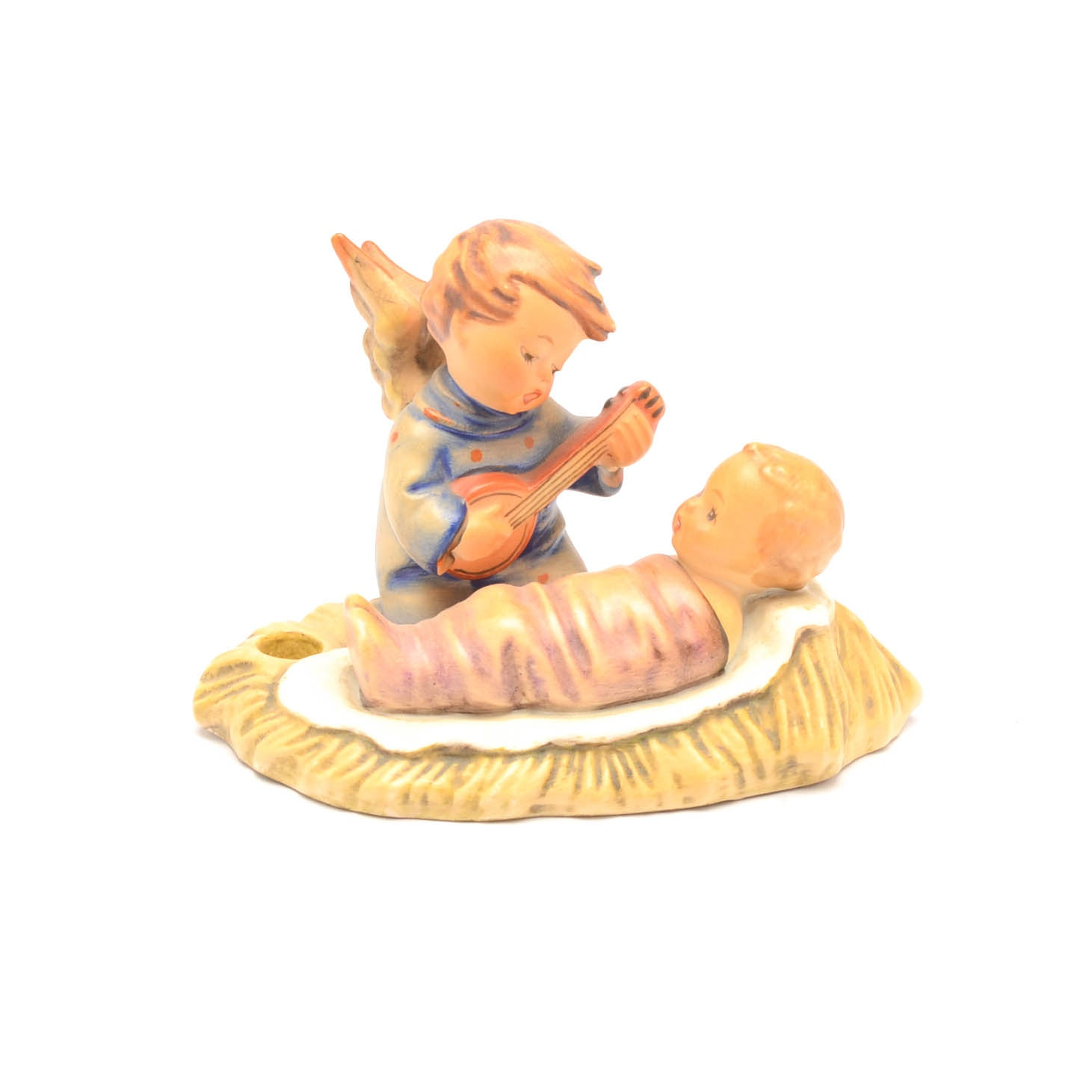 Vintage Hummel Goebel Figurine Lullaby Singing Angel With Baby Jesus
