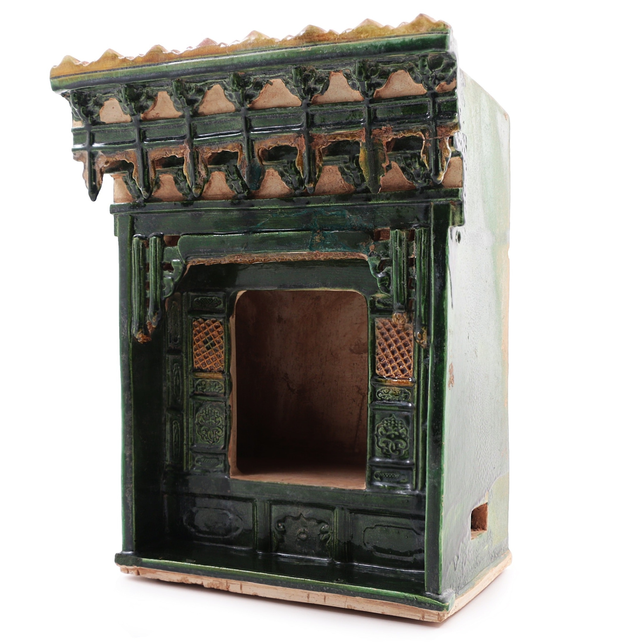 Ming Dynasty Sancai Glazed Chinese Temple Model