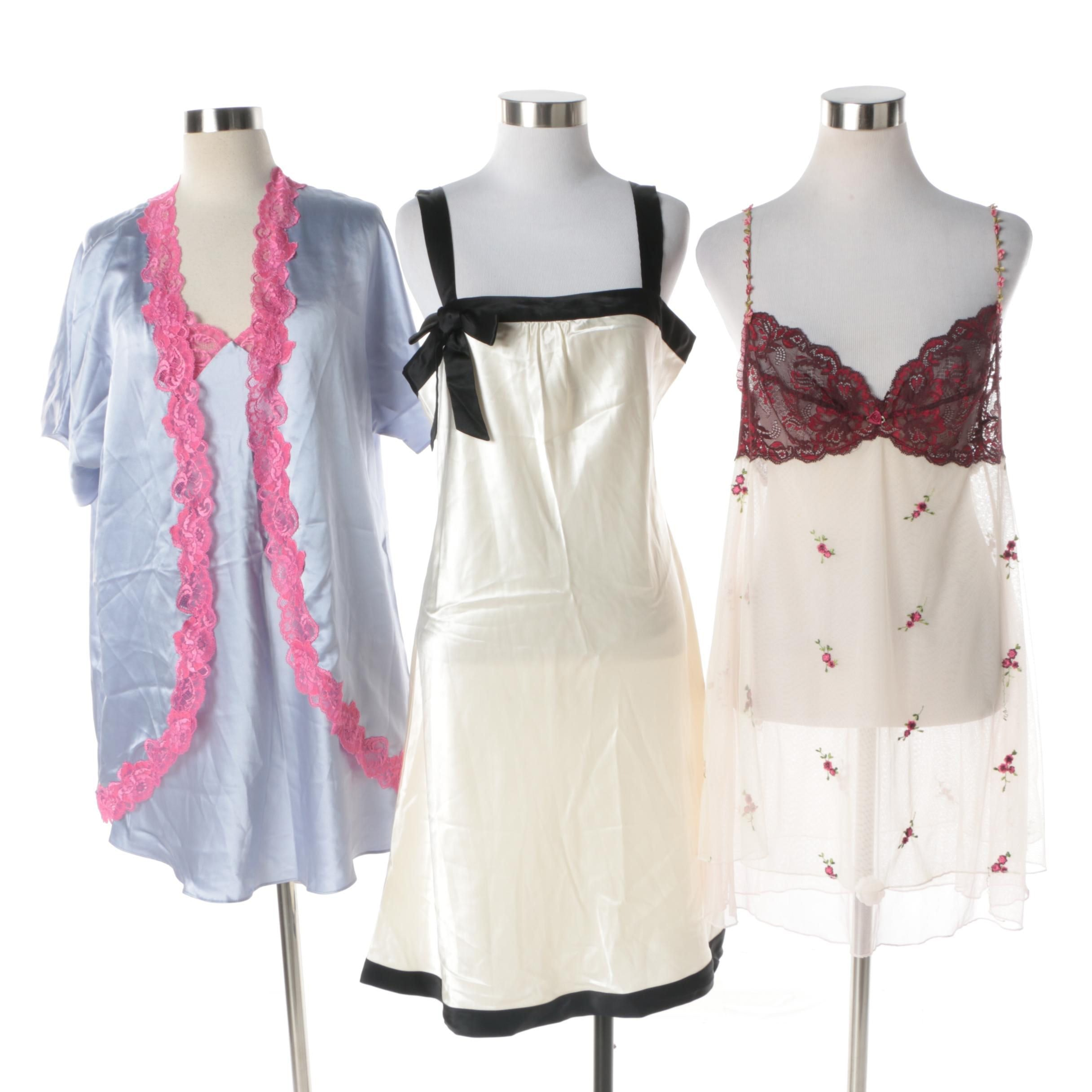 Women's Silk Sleepwear Including Vera Wang