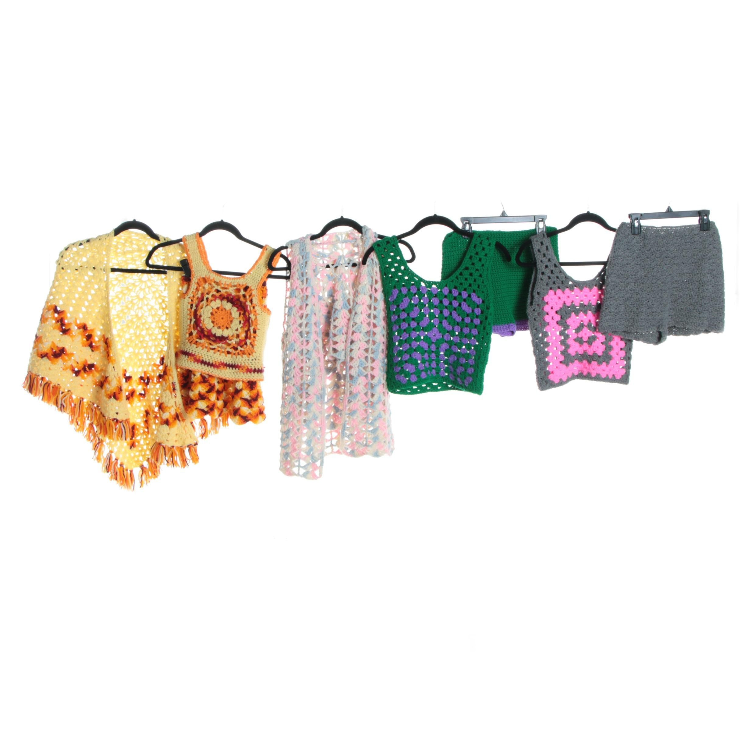 Women's Vintage Hand-Crocheted Clothing Separates