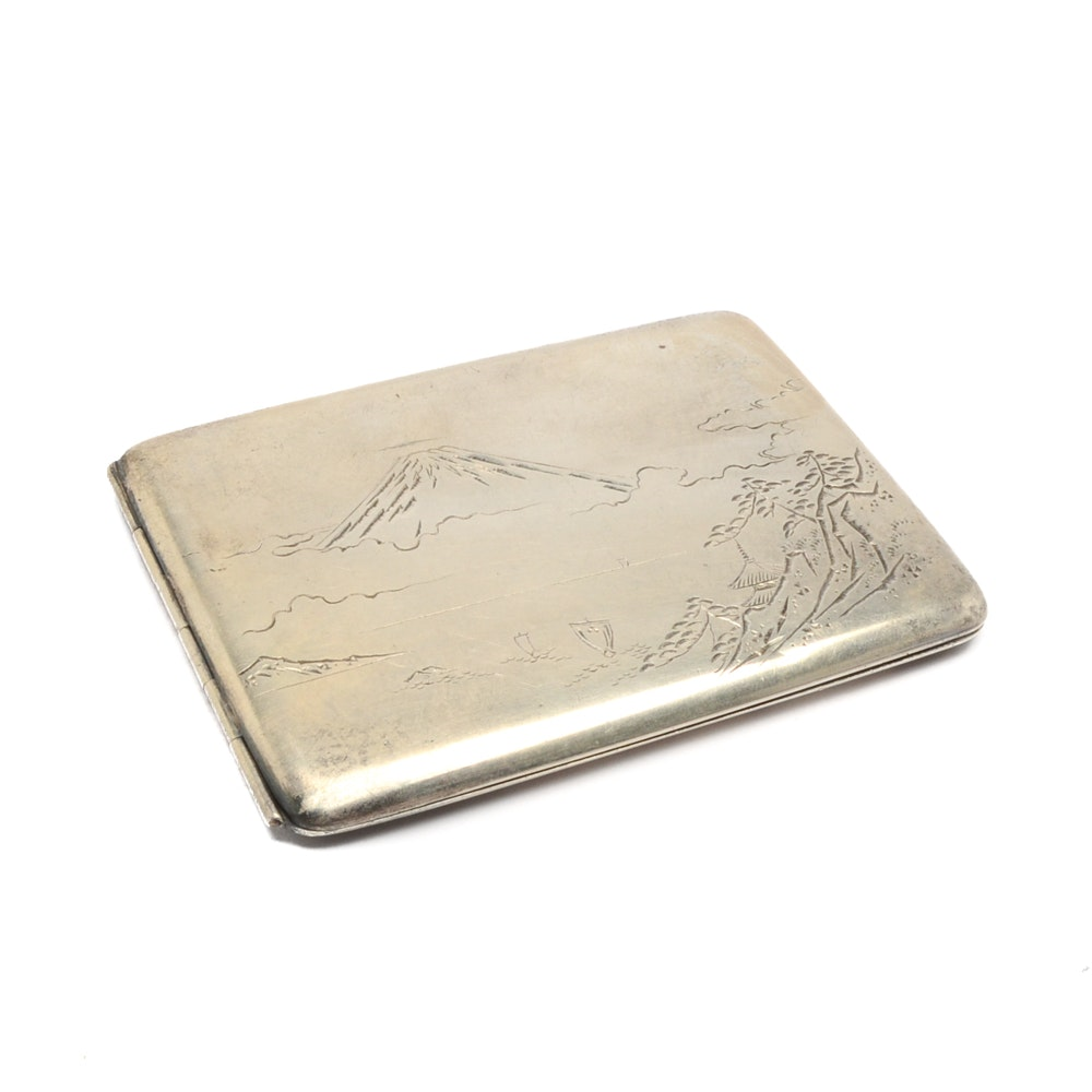 Vintage Japanese Marked Sterling Cigarette Case