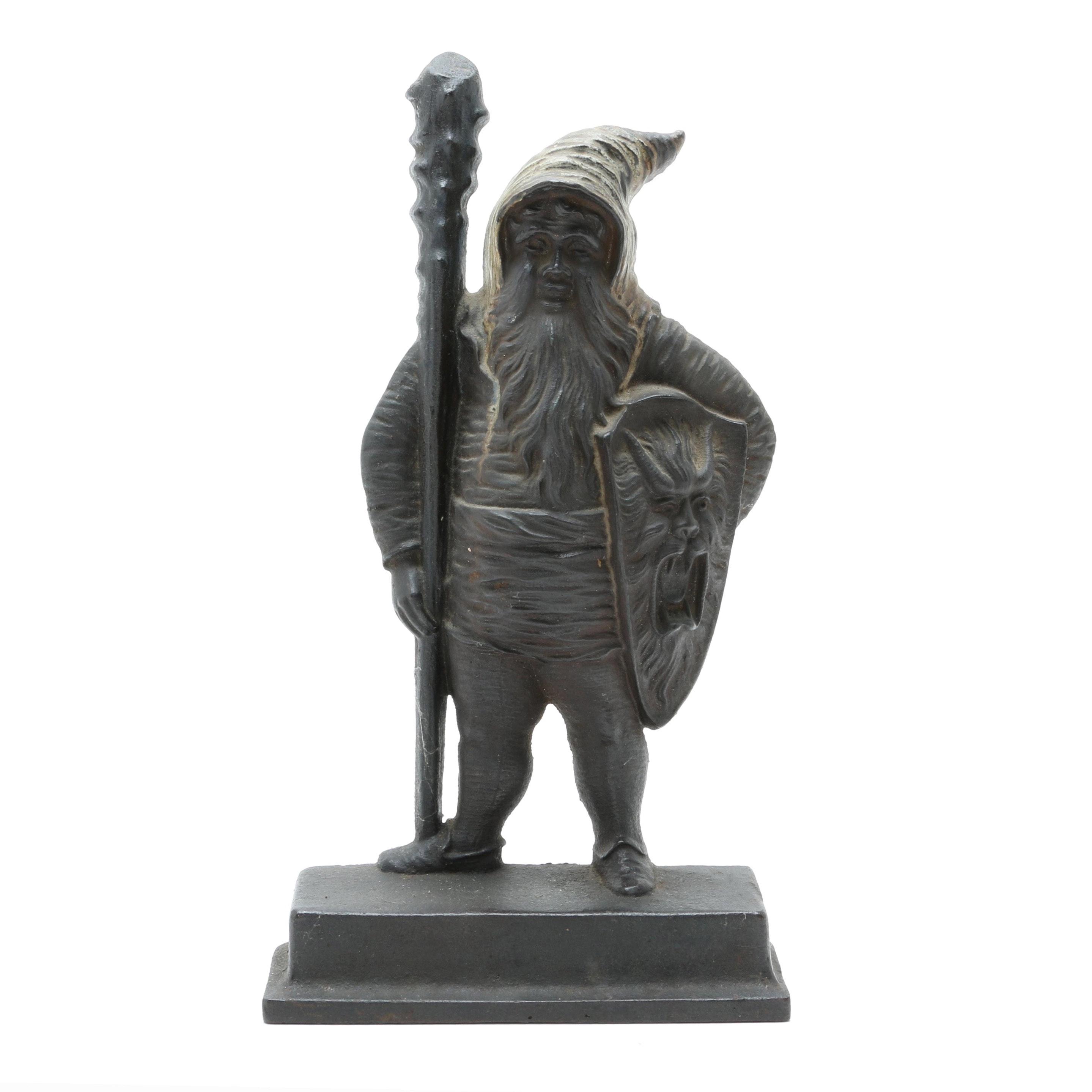Bradley & Hubbard Cast-Iron Warrior Gnome Doorstop