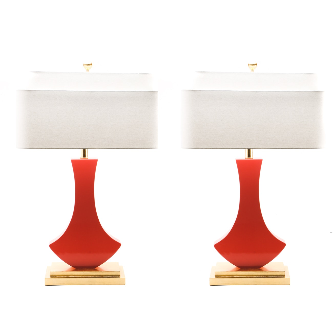 "Pair ""Golden Glamour"" Bellaria Lamps by Couture Lighting"