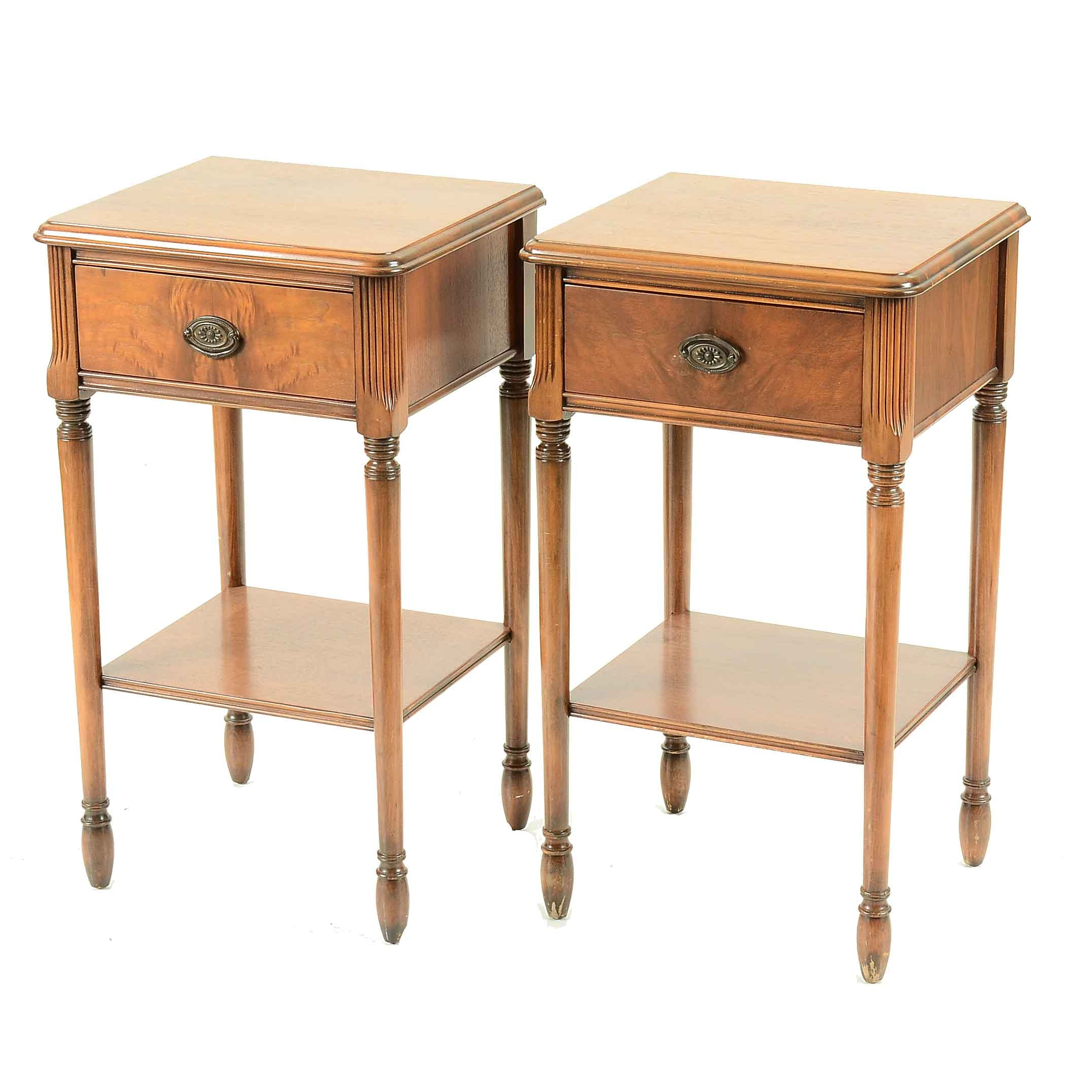 Pair of Sheraton Style End Tables