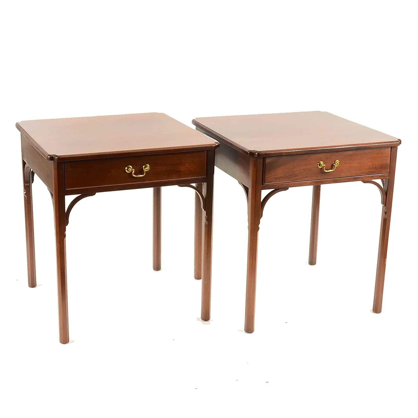 Pair of Walnut Accent Tables