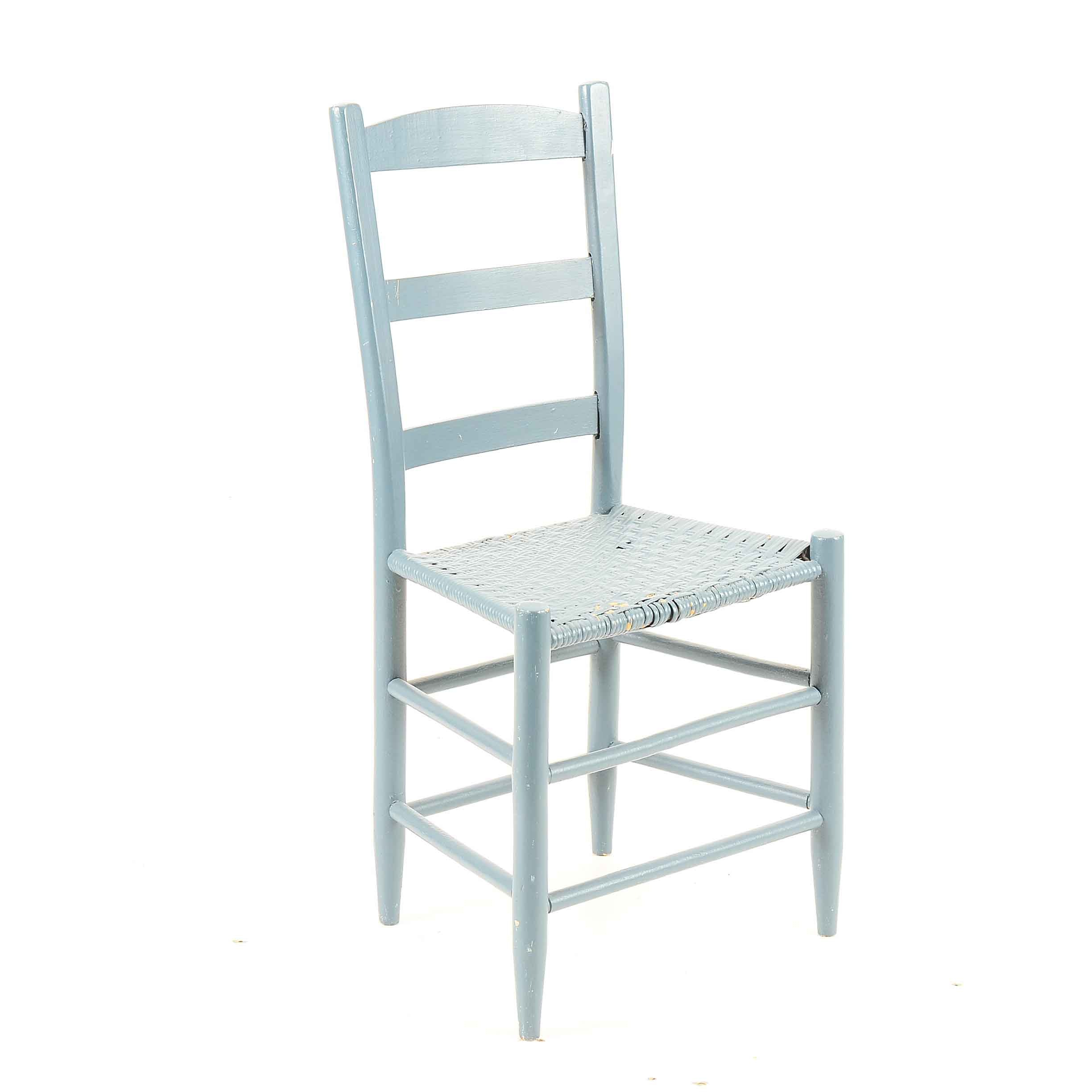 Vintage Blue Painted Side Chair
