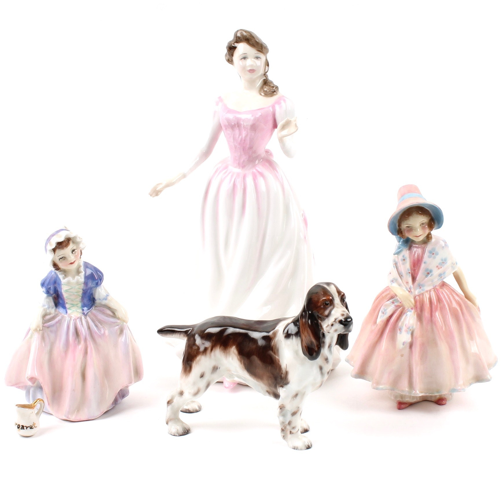"Royal Doulton Porcelain Figurines Including ""Lily"", ""Dinky Do"", ""Margaret"""