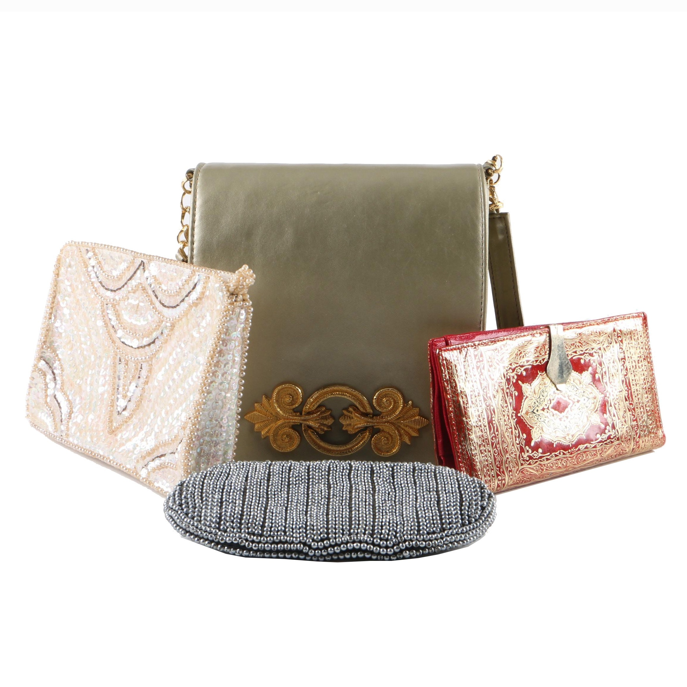 Vintage and Contemporary Handbags, Evening Bags and Clutches Including Garay