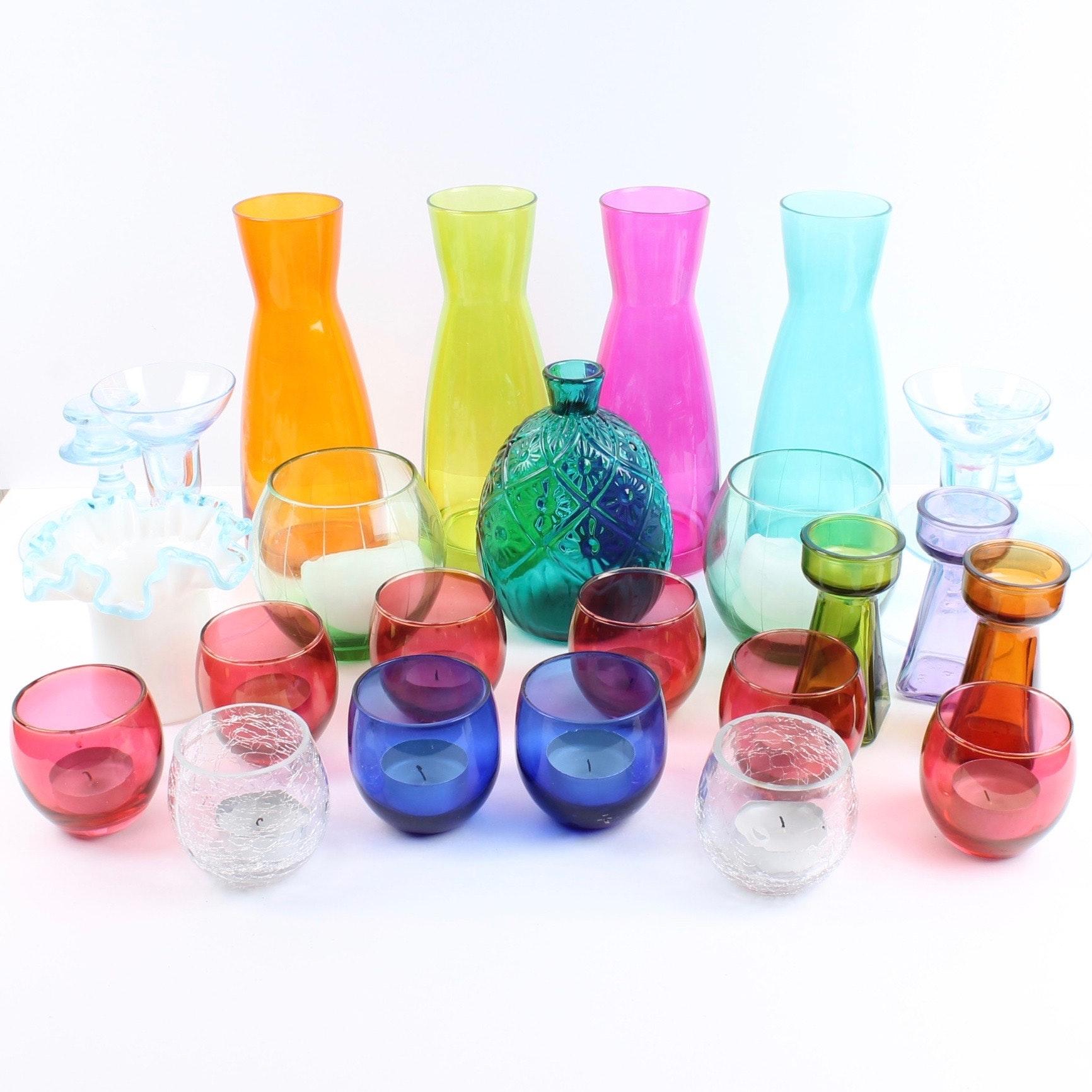 Decorative Colored Glassware Featuring MMA