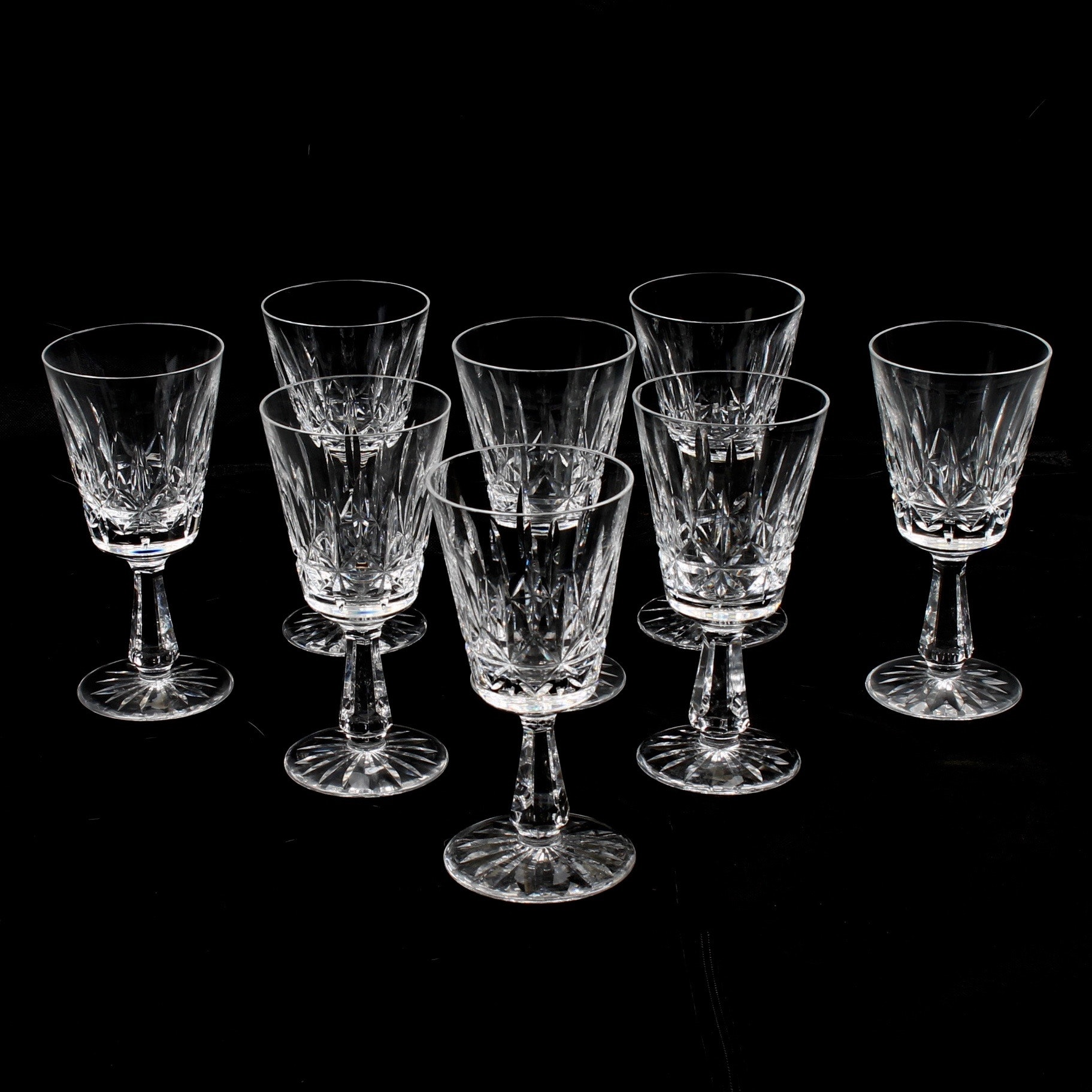 "Waterford Crystal ""Rosslare"" Claret Wine Glasses"