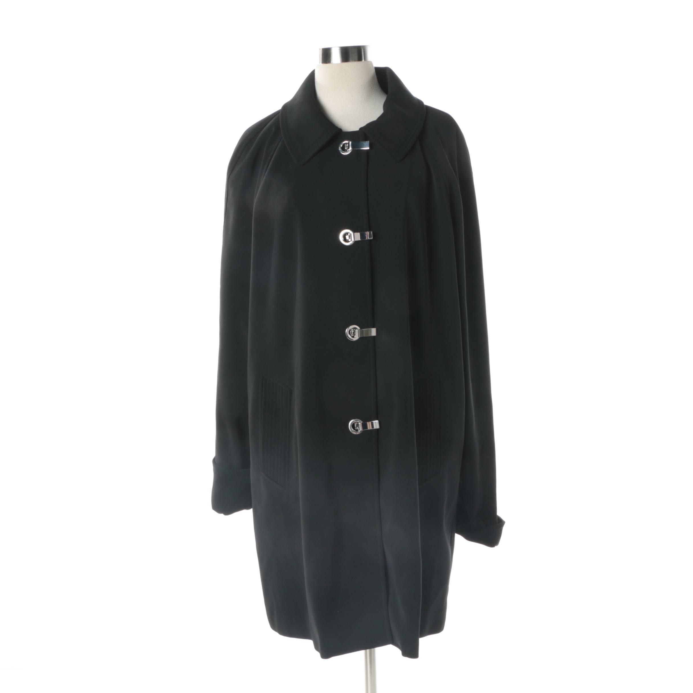 Women's MICHAEL Michael Kors Black Car Coat