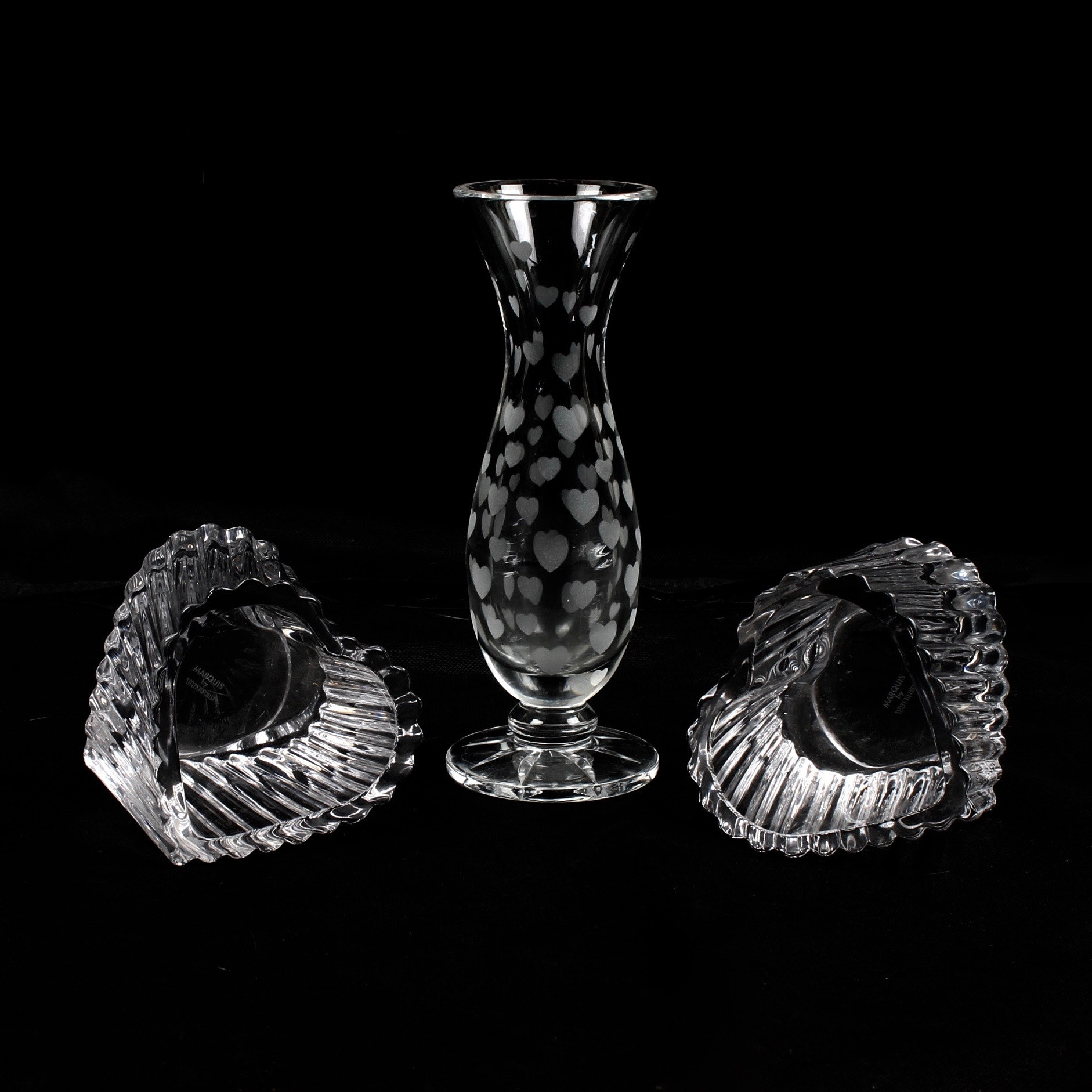 Marquise by Waterford Crystal Vase and Tealight Holders
