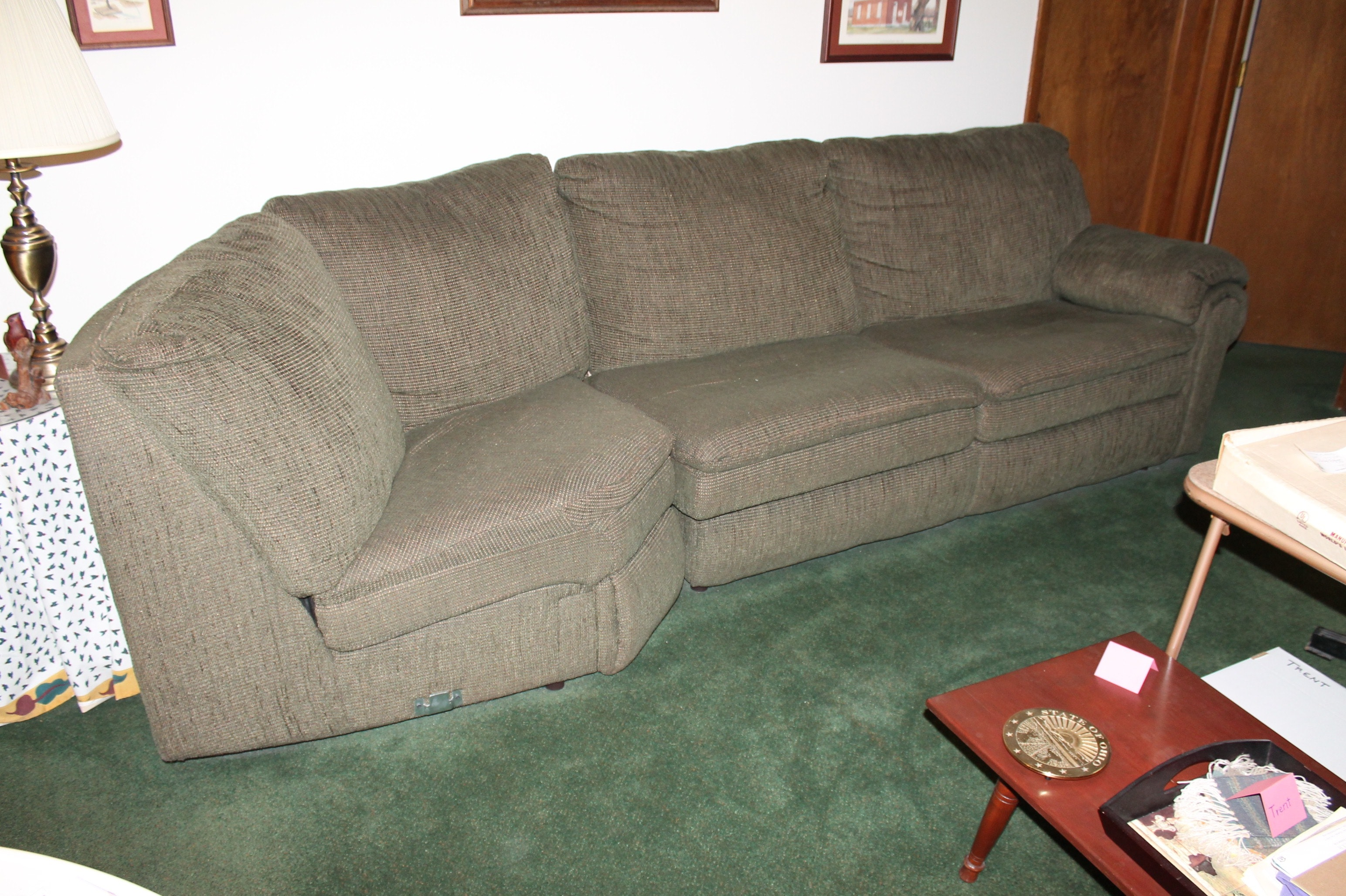 Sofa Express Sleeper Sectional with Ottoman