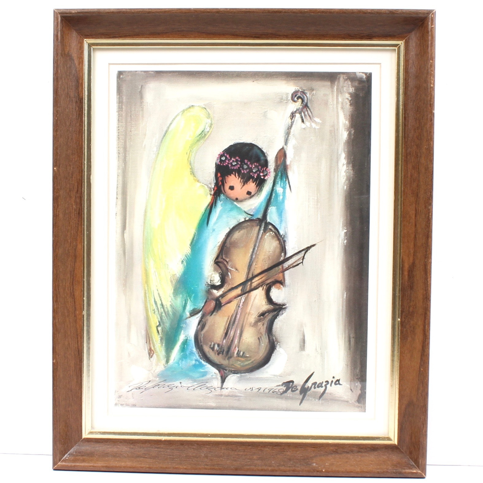 Ettore DeGrazia Signed 1968 Offset Lithograph Print