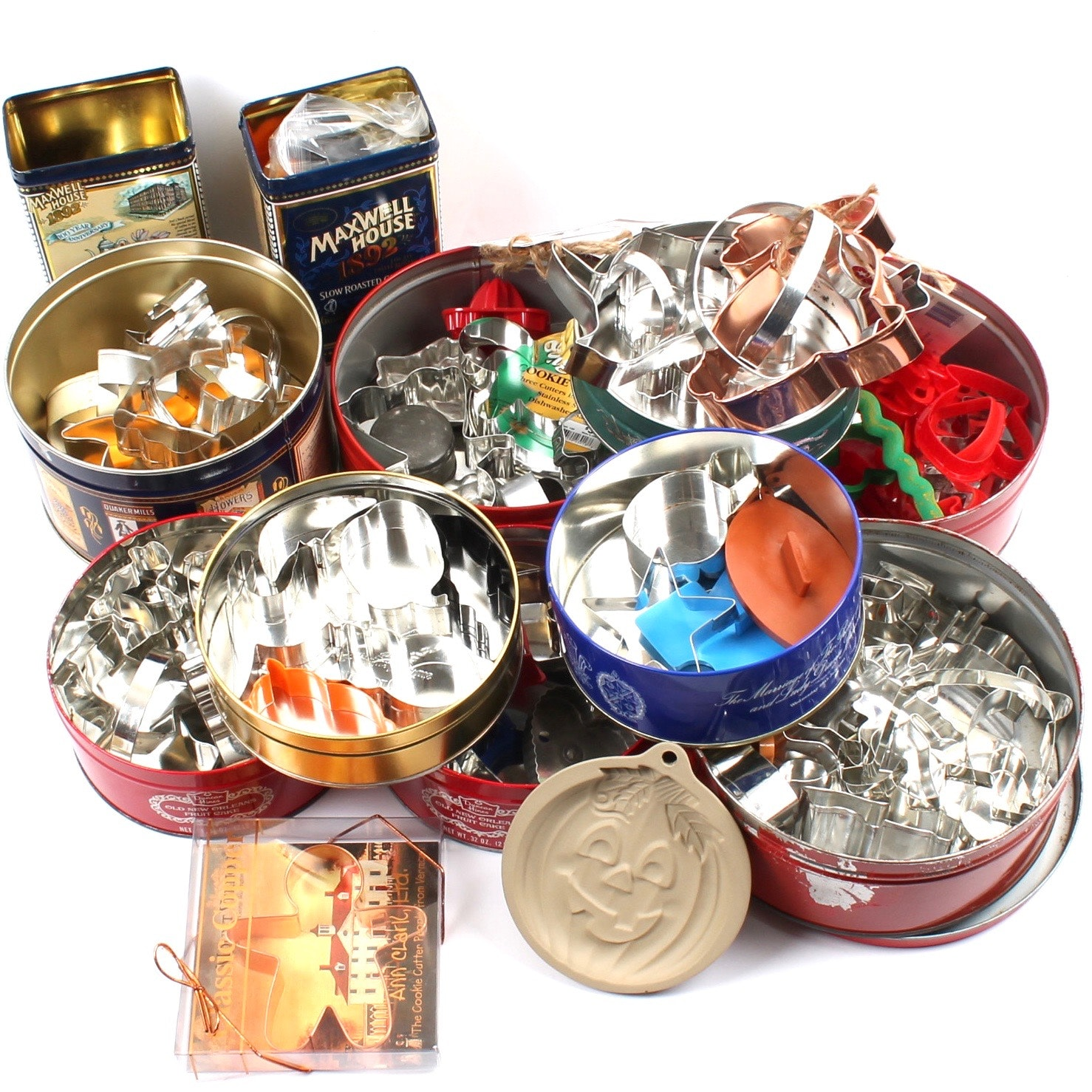Metal Cookie Cutters and Tins