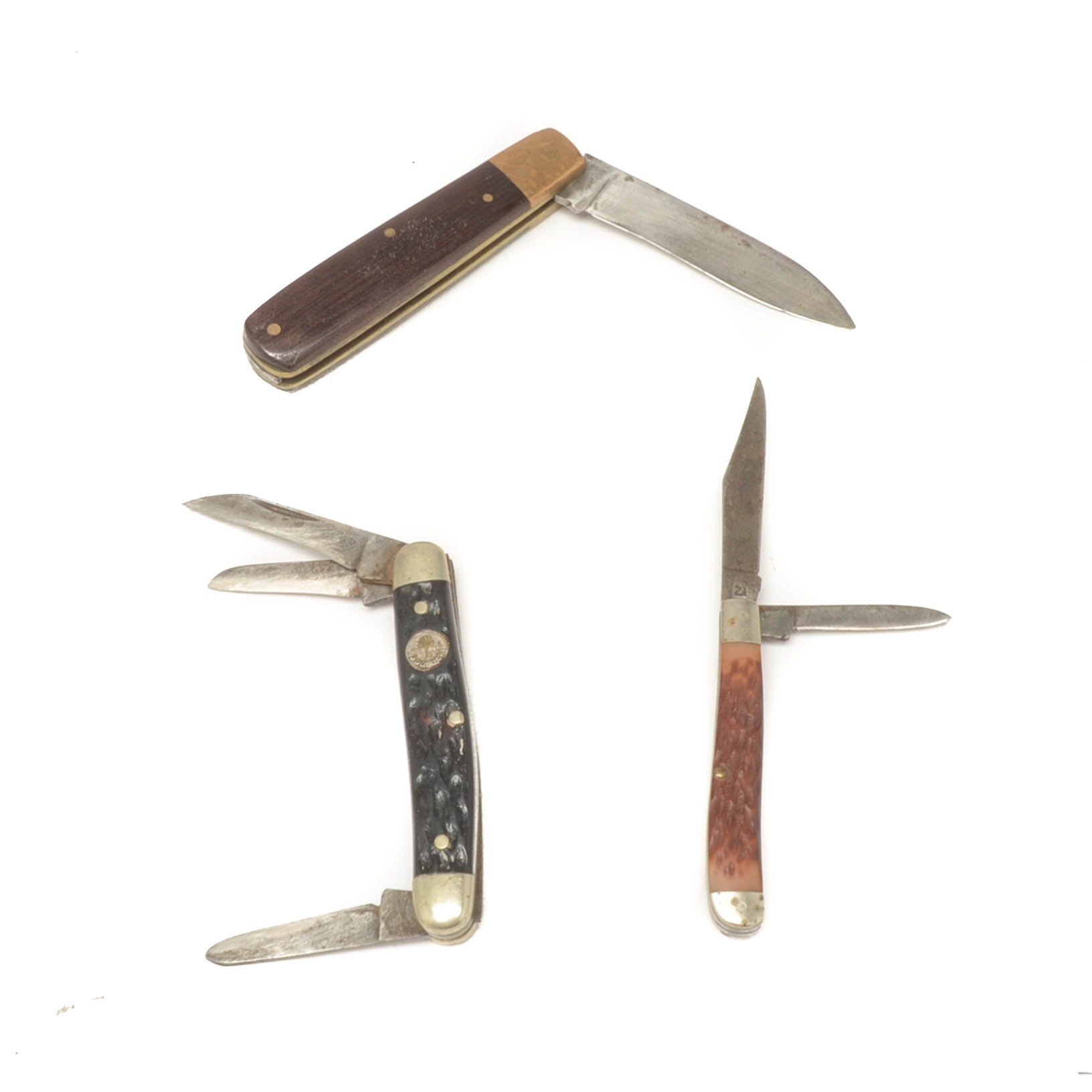 Three Pocket Knives, One Marked Solingen