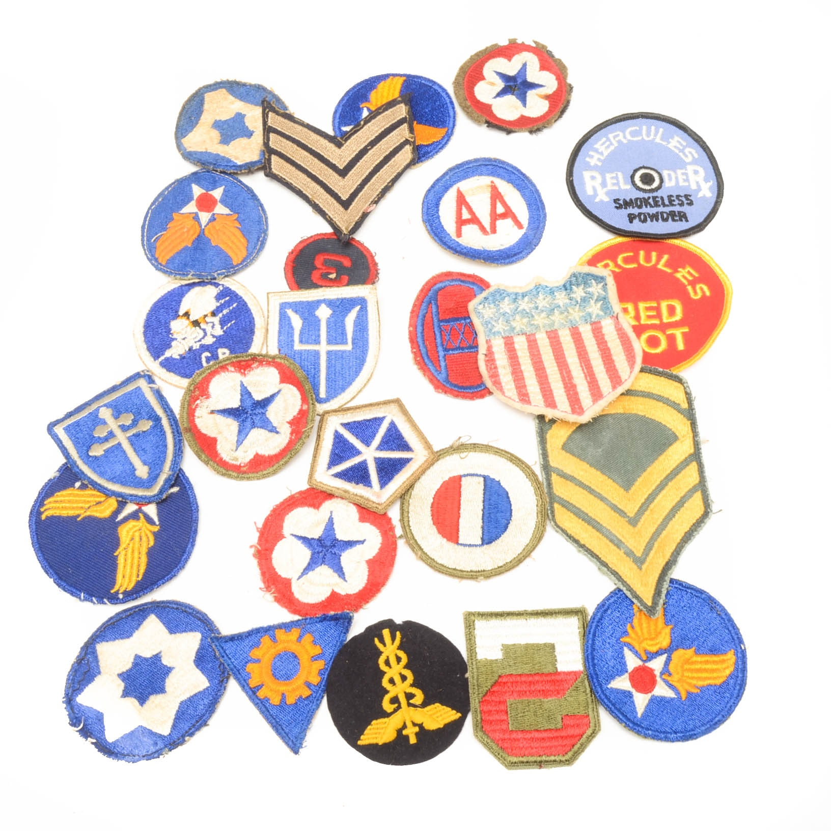 Assorted Vintage United States Military Uniform Patches