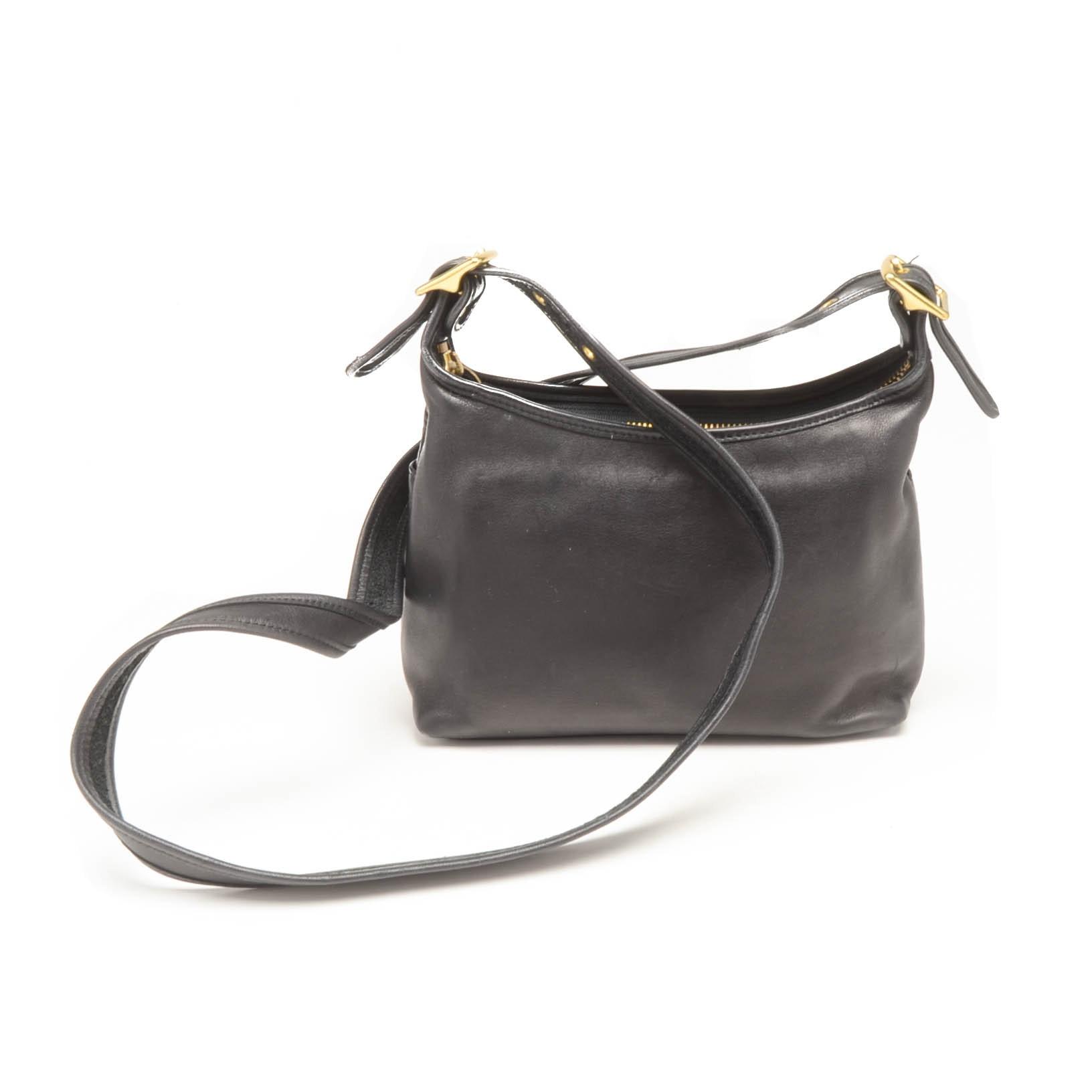 coach legacy black leather shoulder bag ebth rh ebth com