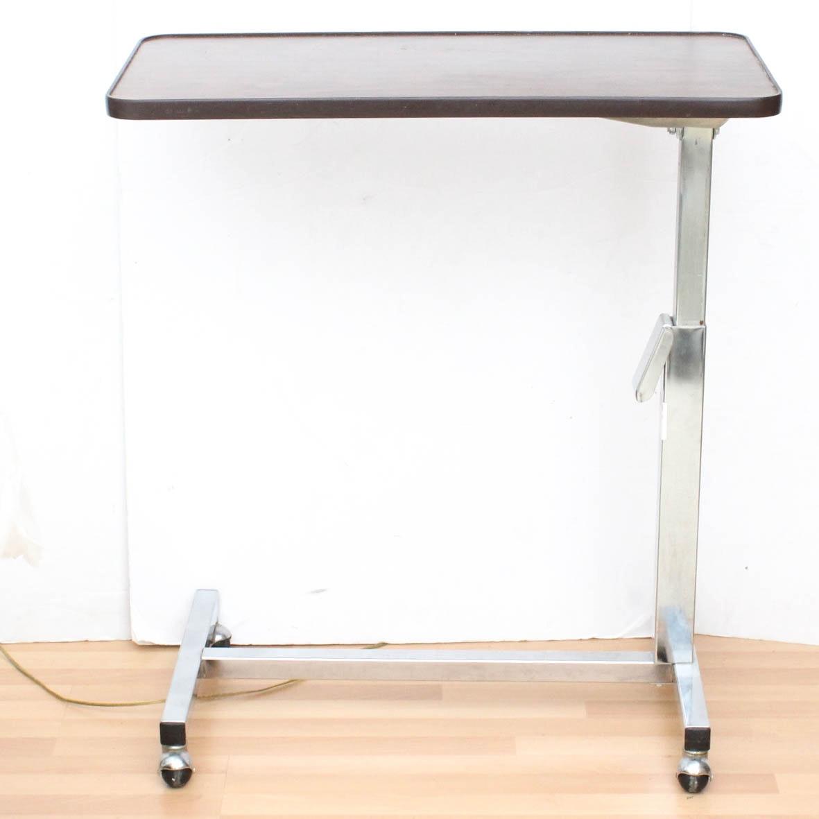 Adjustable Height Bedside Table