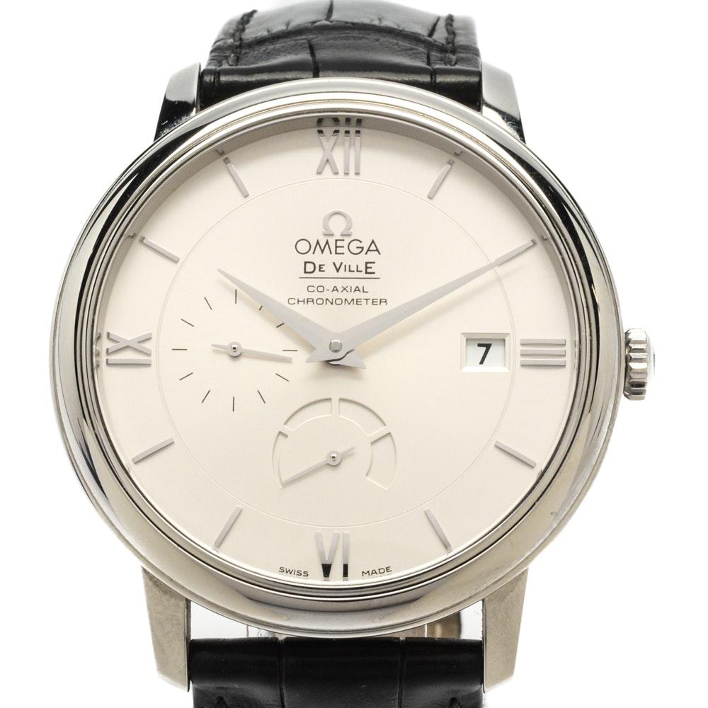"Omega ""DeVille"" Prestige Power Reserve Automatic Coaxial Wristwatch"