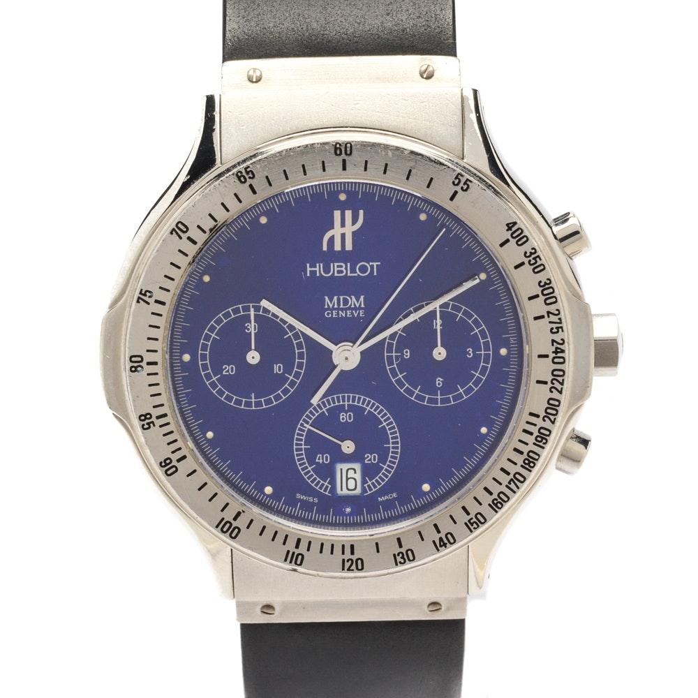 Hublot MDM Geneve Classic Chronograph Steel Quartz Wristwatch
