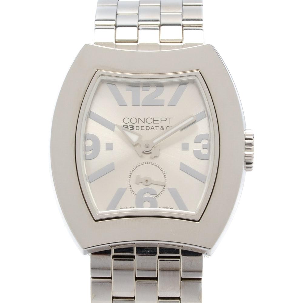 """Bedat & Co """"Concept B3"""" Steel Quartz Wristwatch"""