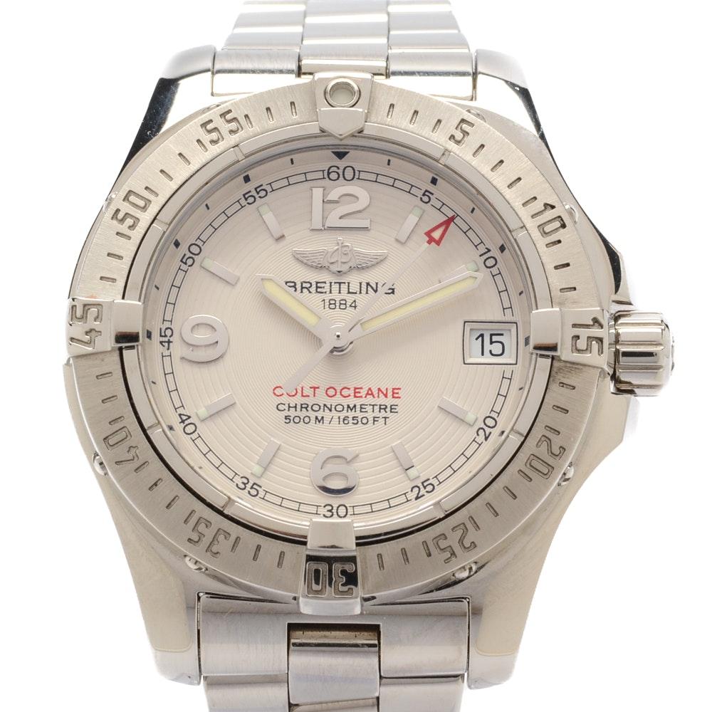 "Breitling ""Colt Oceane"" Steel 33MM Quartz Chronometer Wristwatch"