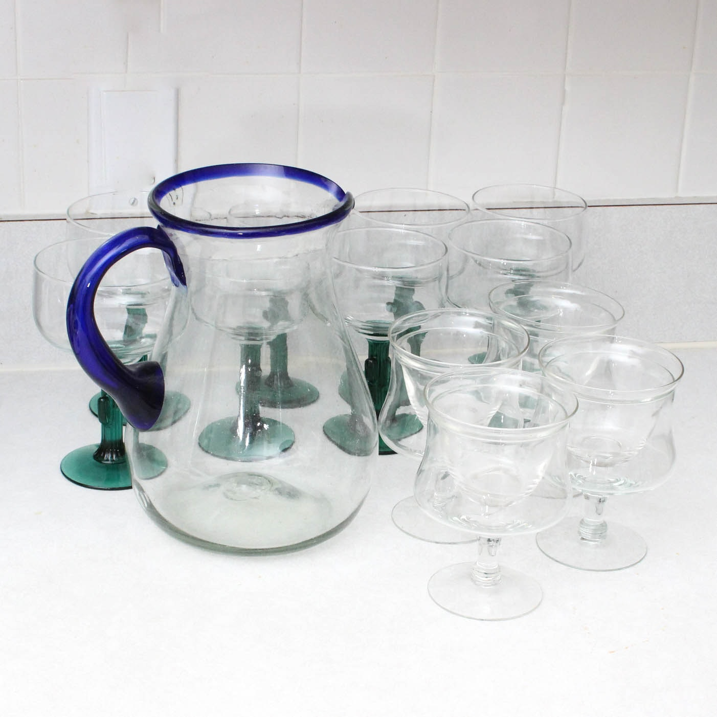 Margarita Glasses and Pitcher