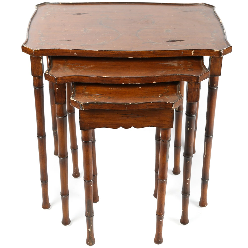 British Colonial Style Nesting Tables