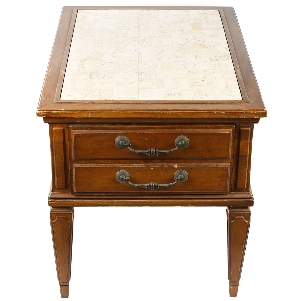 Mid-Century Italian Neoclassical Style End Table by Brandt