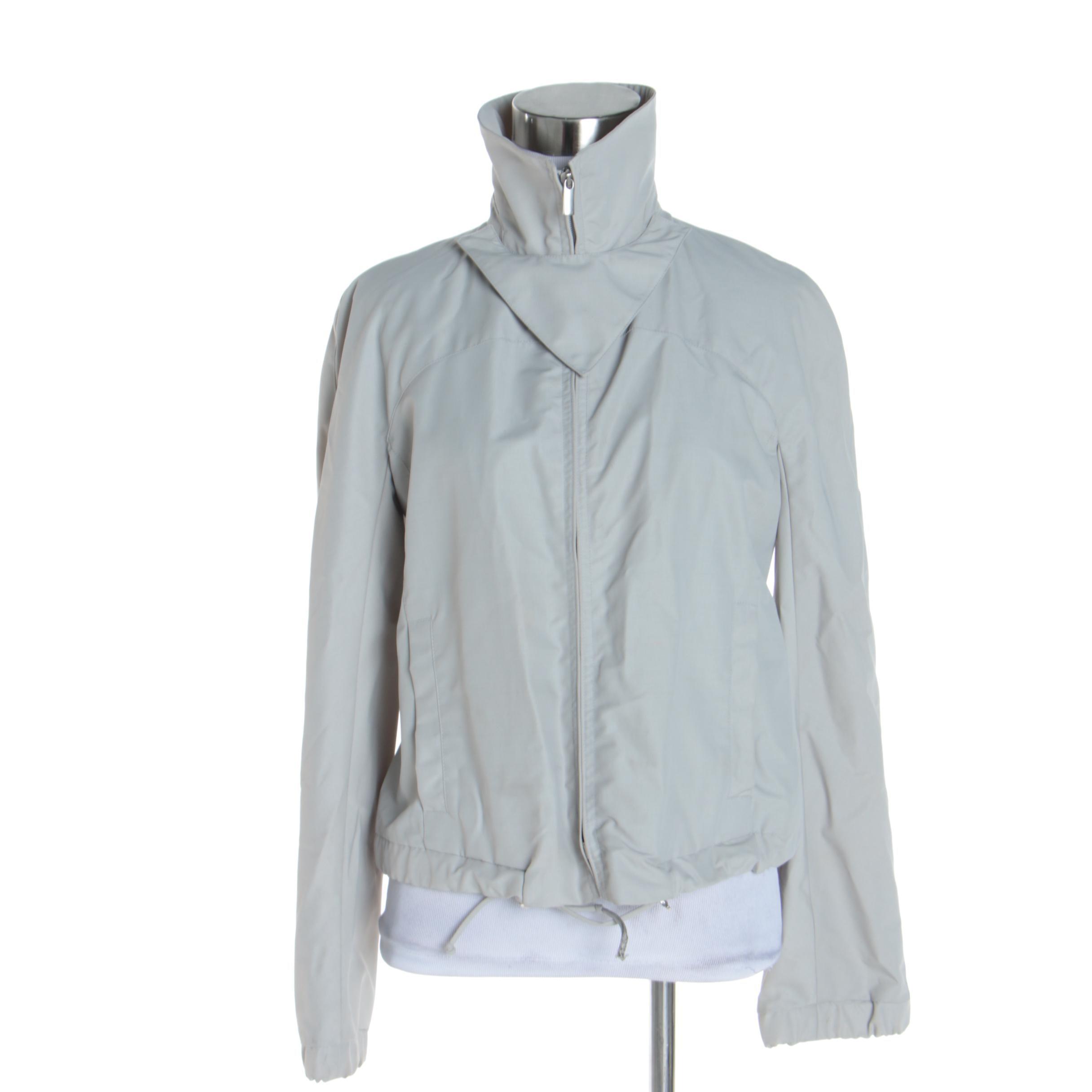 Women's Giorgio Armani Grey Wool Blend Jacket