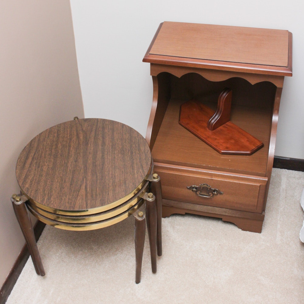 Vintage Rhyne Funiture Nightstand with Accent Furniture