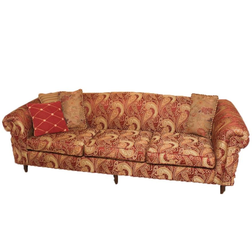 Jacquard Sofa Europe Black Gold Fl Jacquard Terry Cloth