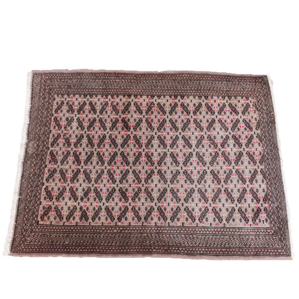 Vintage Hand-Knotted Pakistani Turkmen Rug