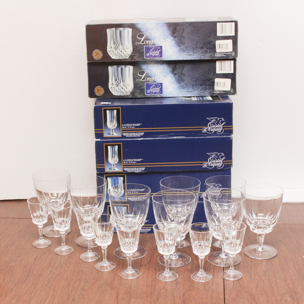 "Cristal d'Arques ""Longchamp"" and Assorted Crystal Stemware"