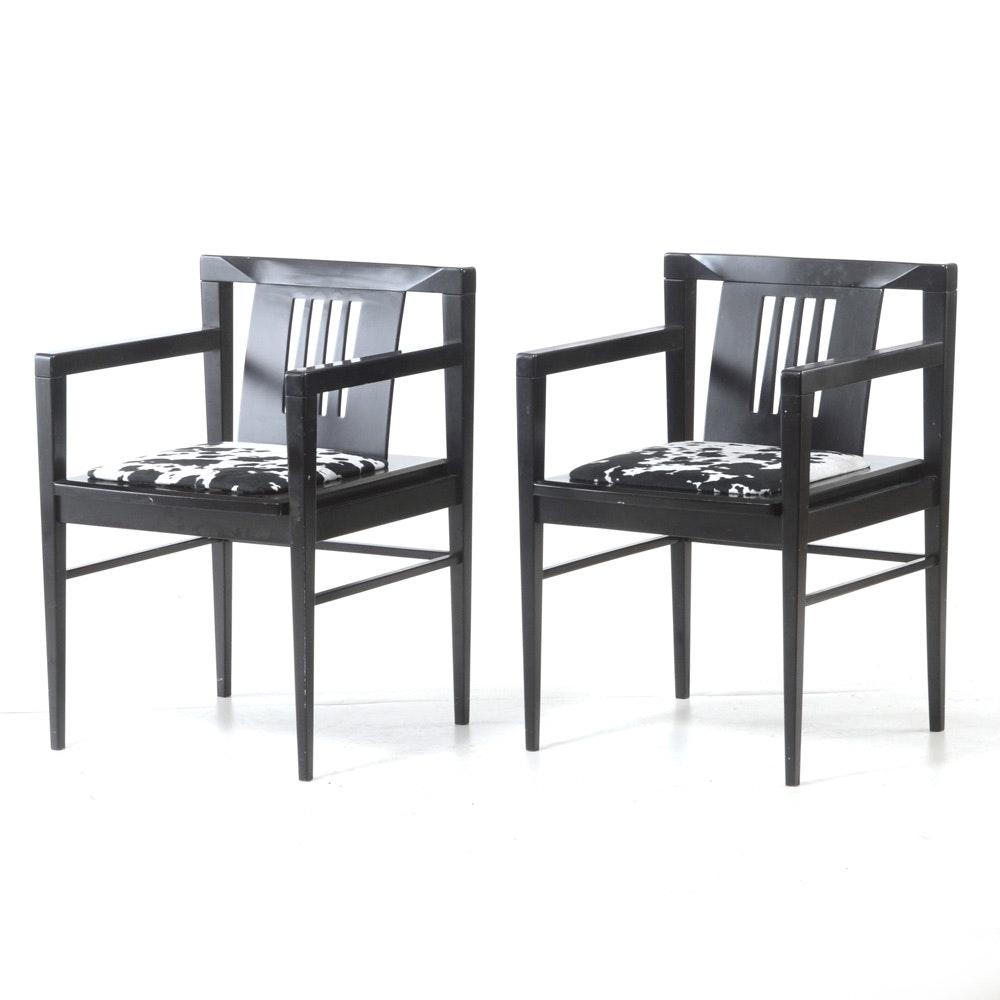 Pair of Sibau Modernist Arm Chairs