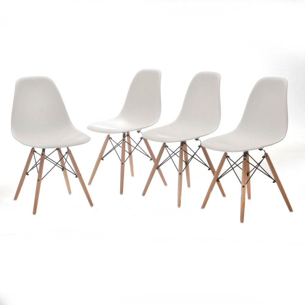 Grouping of Eames Style Eiffel Chairs by Uramod