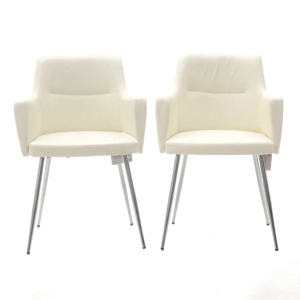 Pair of Modernist Chairs by Lumisoure
