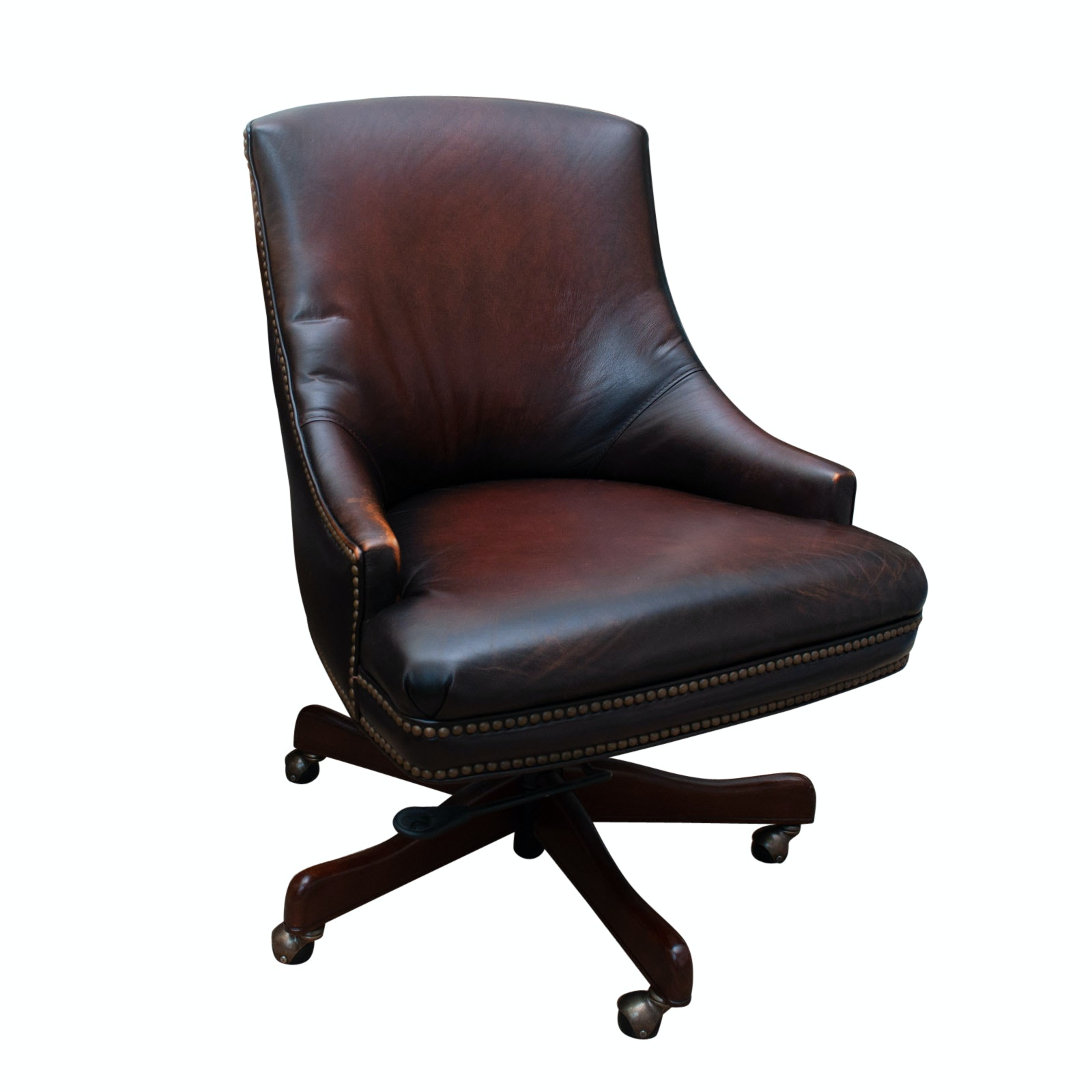 Seven Seas Leather Desk Chair