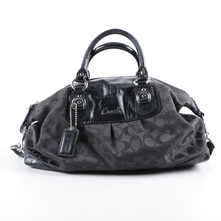 d4a2c3beb88d Coach Ashley Signature Satchel in Black   EBTH