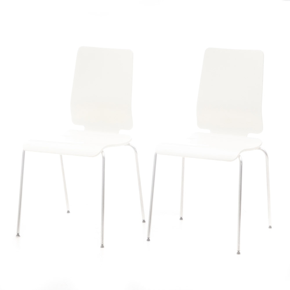 "Pair of Ikea ""Gilbert"" Side Chairs"
