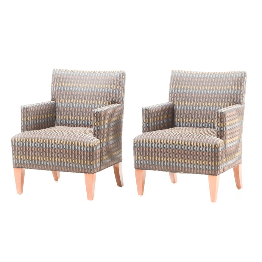 Pair Of Contemporary Chairs By Hbf Furniture Ebth