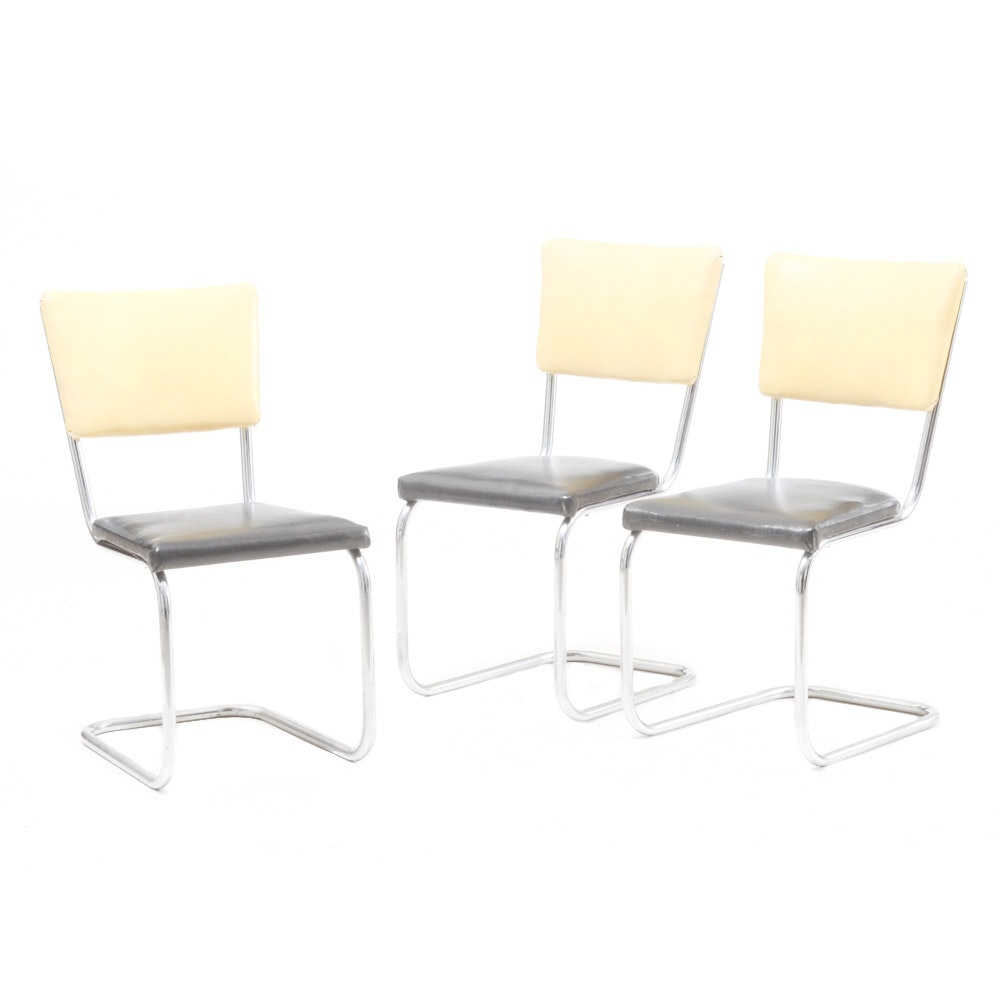 """Three 1950""""s Dinette Chairs"""