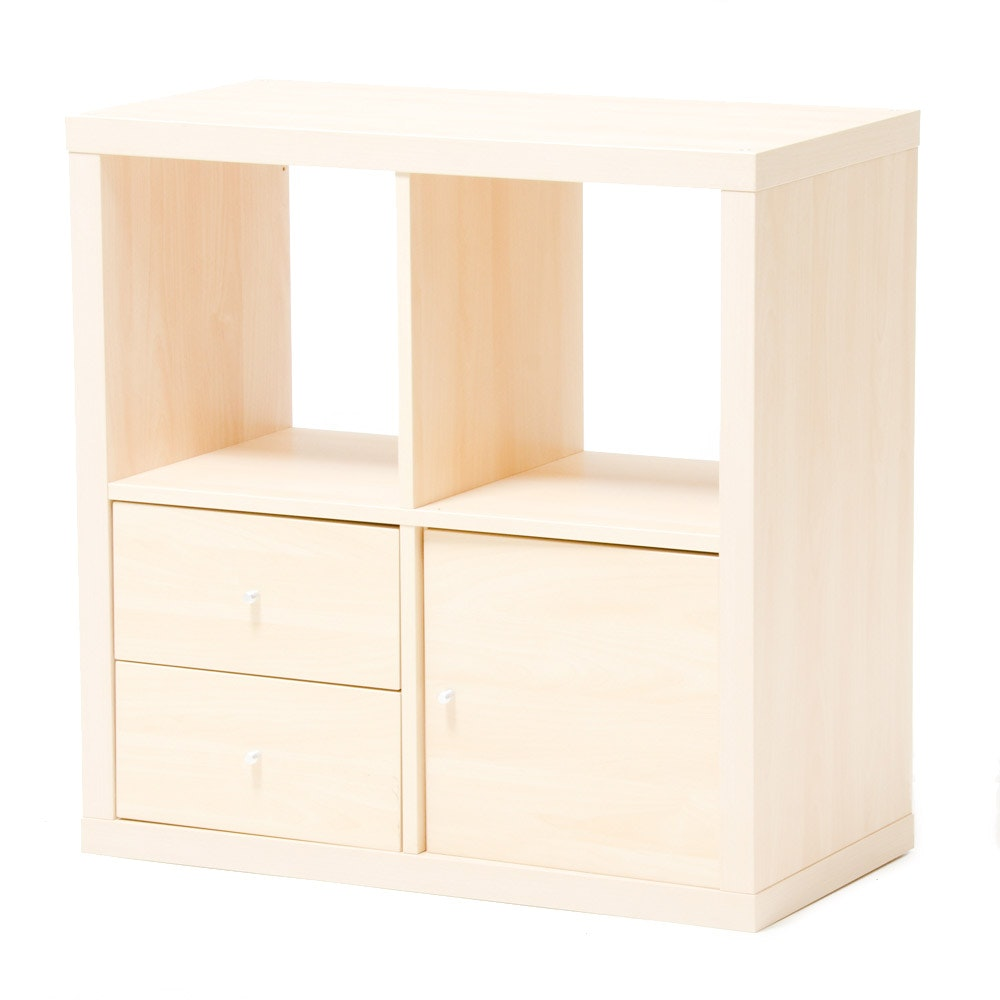 Ikea Maple Laminate Shelving Unit