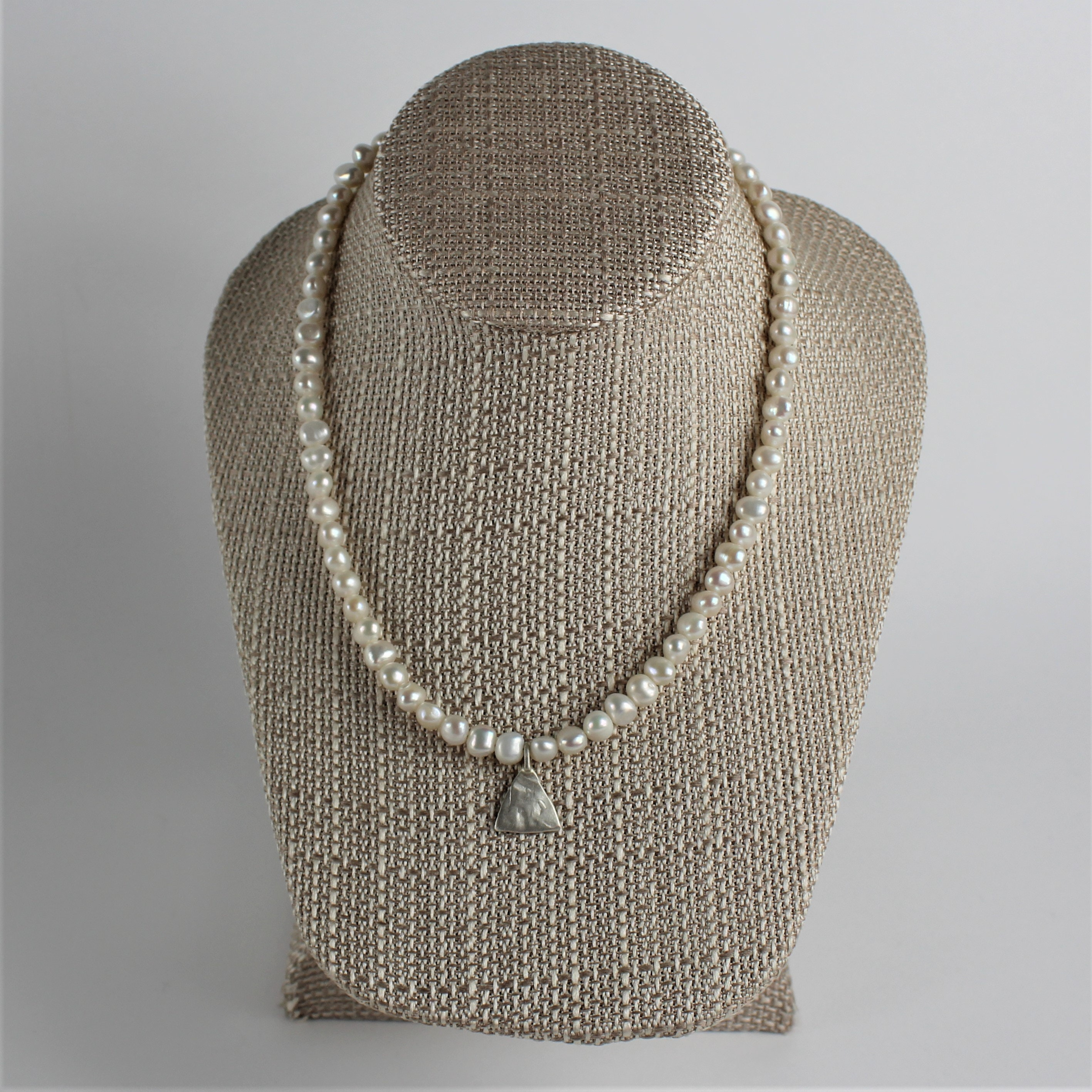 Designer J. Chee Sterling Silver and Pearl Necklace