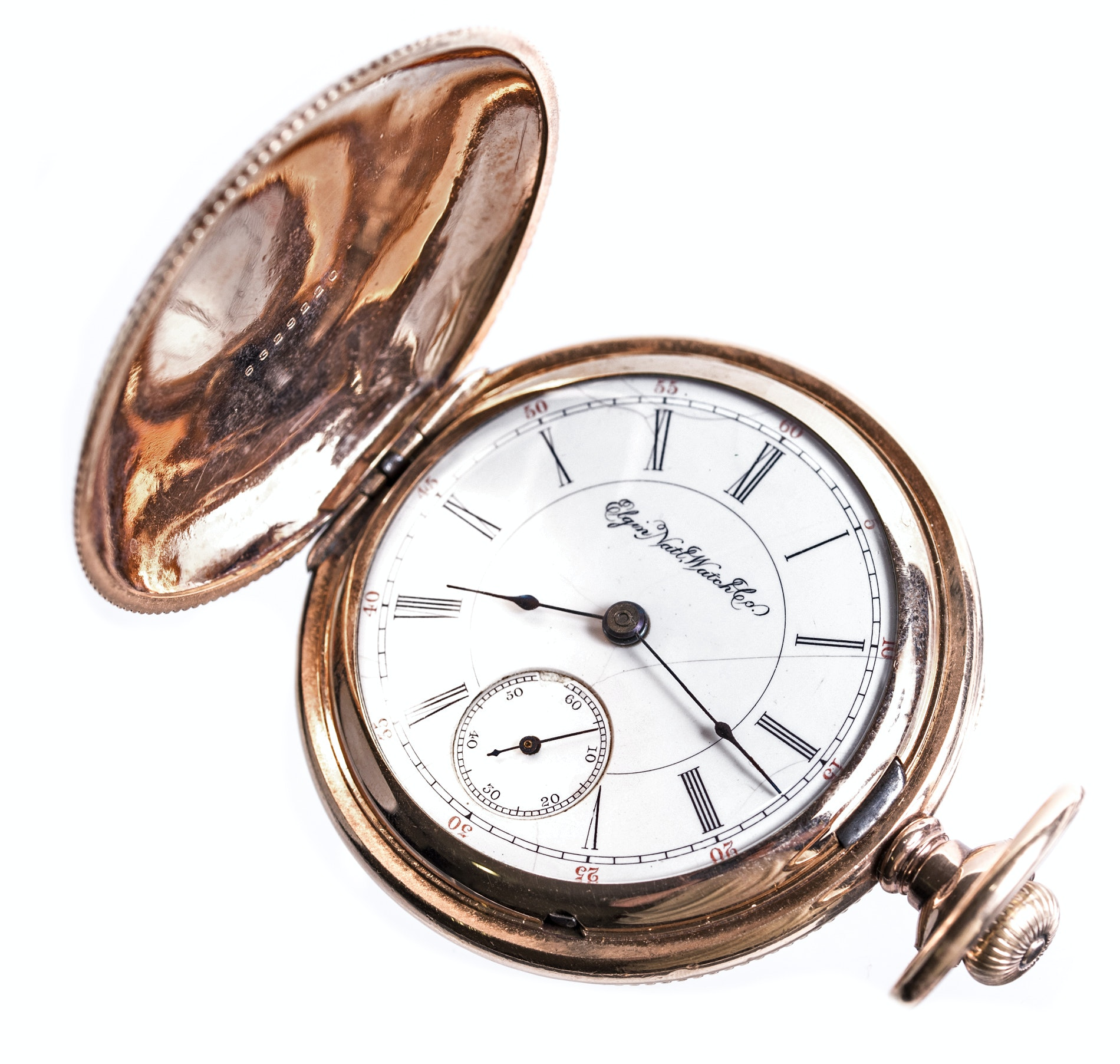14K Yellow Plated Gold Elgin Pocket Watch
