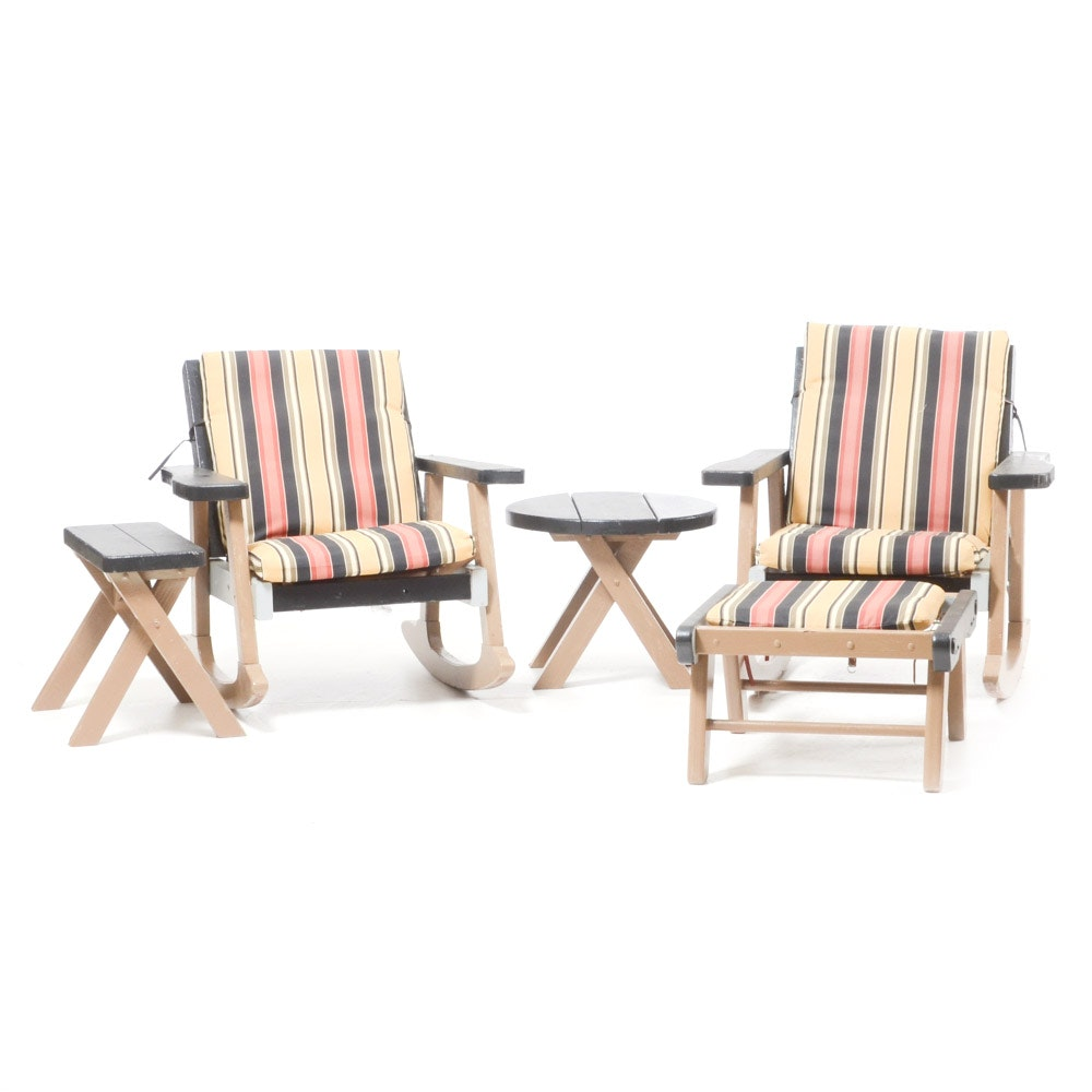 Grouping of Vintage Outdoor Furniture