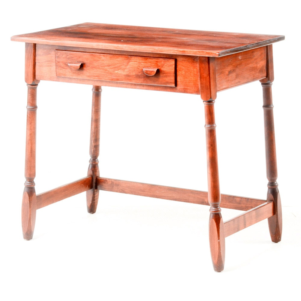 Vintage Country Style Walnut Accent Table