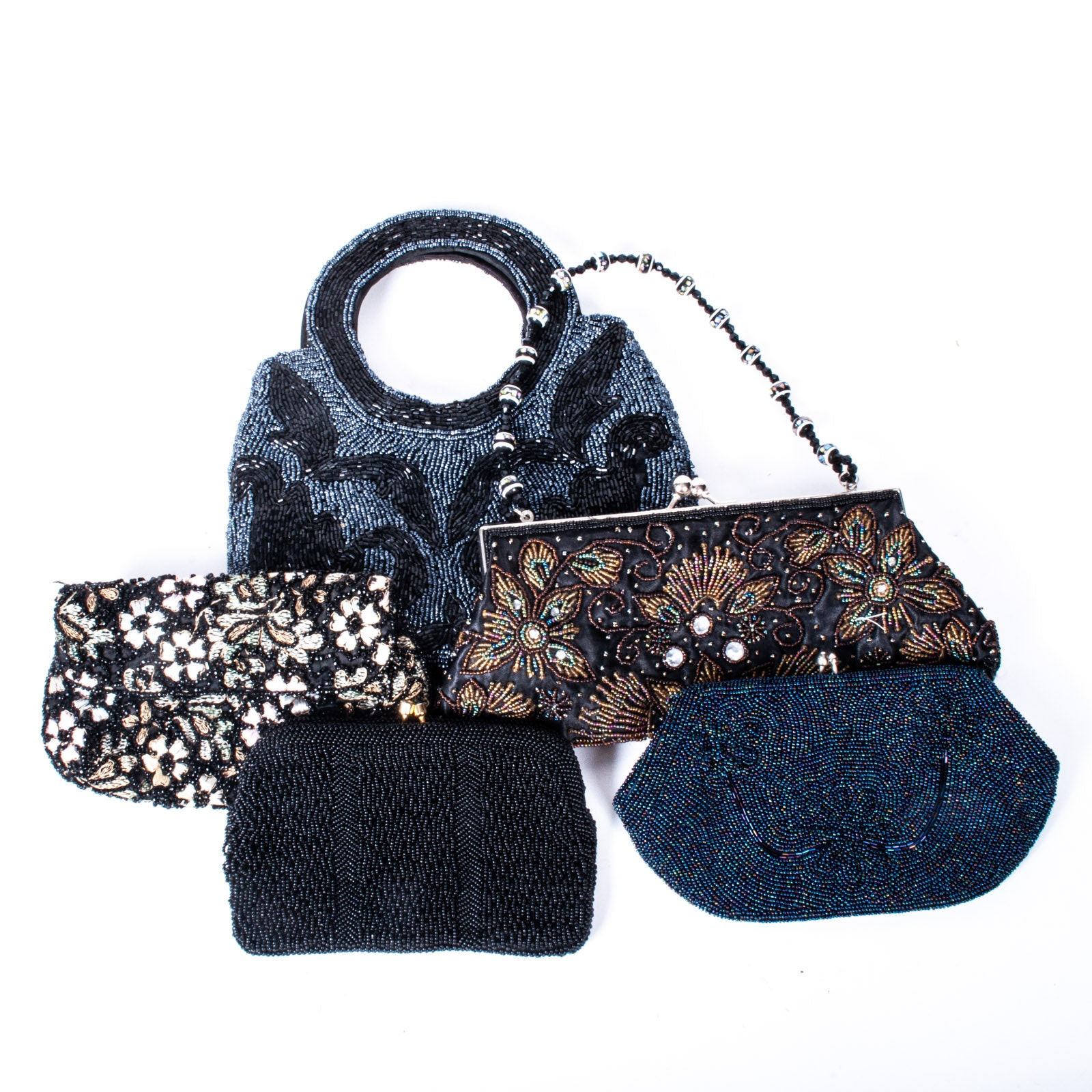 Assortment of Vintage and Contemporary Beaded Purses